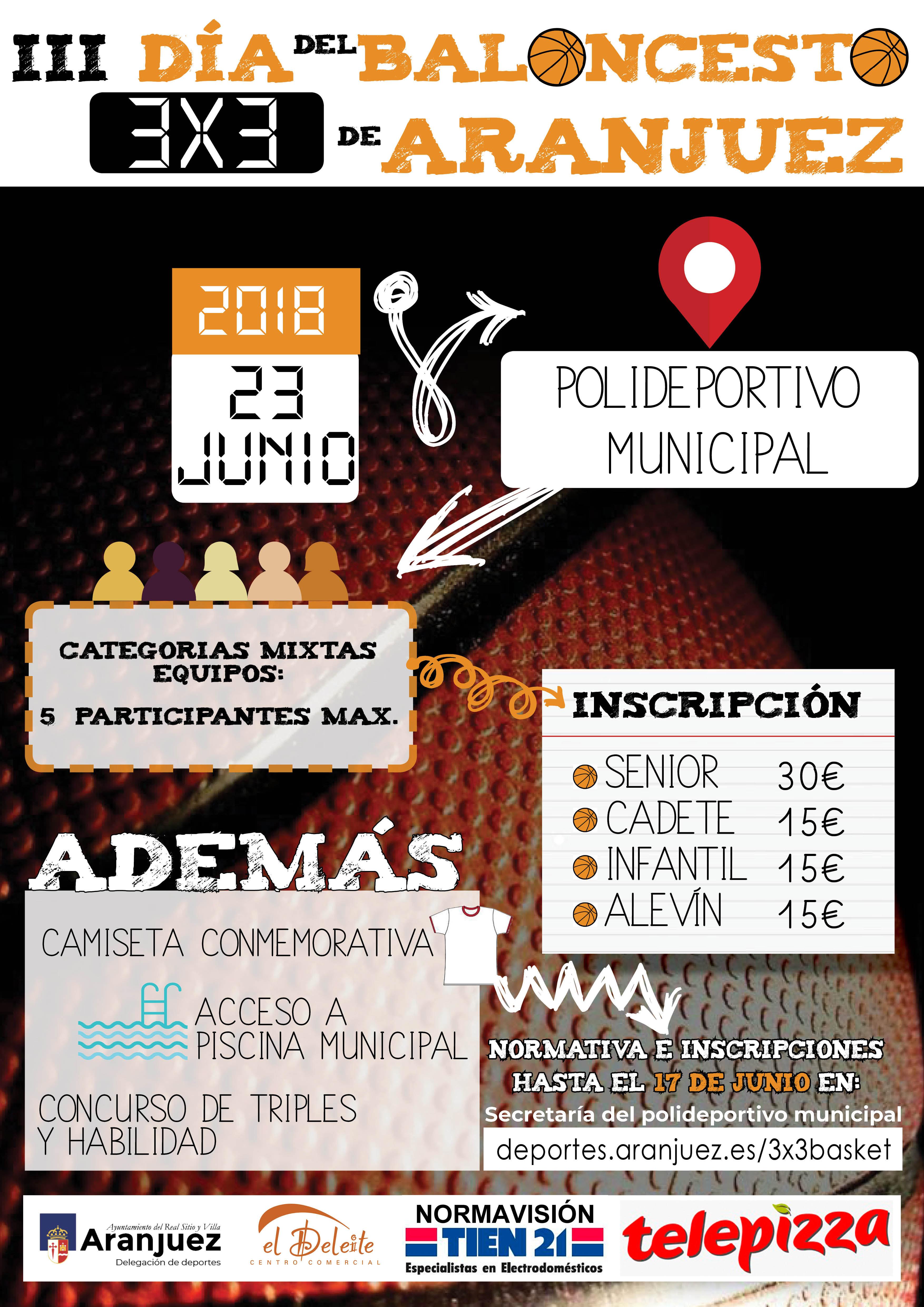 III Maratón 3×3 de Baloncesto de Aranjuez – Delegación de Deportes e9b530a60b1f5